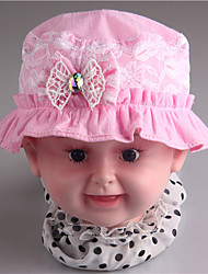 A&M Embroidery Bow Contrast Color Cute Baby Sun Hat#Cap around:48cm Hat:4cm deep:8cm