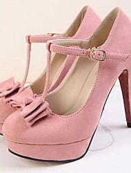 Flocking Women's Stiletto Heel Platform Round Toe Sandals Shoes (More Colors)