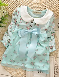 Girl's Tee,Floral Cotton Spring / Fall