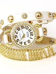 wagen u Frauen voluble PU-Leder verstellbare Uhr