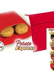 "Potato Express Microwave Potato Cooker , Polypropylene 9.6""X7.6""X0.4"""