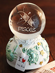 Pisces Crystal Ball Music Box with LED