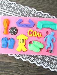 Football Fondant cake mold,L10cm*W6.2cm*H1cm SM-299