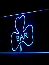 affichage publicitaire trèfle pub conduit de lumière de signe