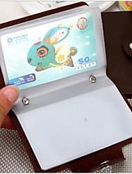 держатели бизнес дизайн искусственная кожа кредитных карт (Random Color x1PCS)