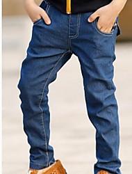 Boy's Grid Letters Jeans