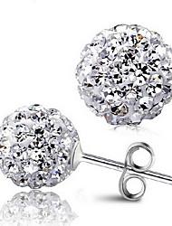 pendientes plateados s925 puros con diamantes de imitación austriaco