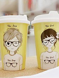 Japanese Animation Ceramic Coffee Mugs Random Pattern,9.5x9.5x12cm
