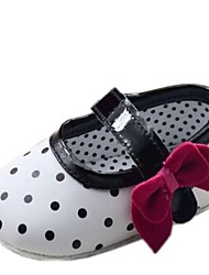 Cotton Girl's Flat Heel Round Toe and Mary Jane Flats with Bowknot Shoes