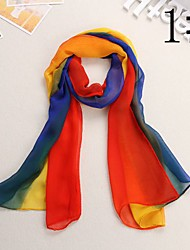 Bully Gradually Changing Color Cape Sun Chiffon Scarf