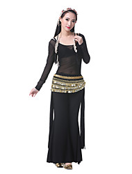 Belly Dance Outfits Women's Performance Satin Black Belly Dance