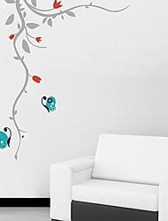 Createforlife® Cartoon Butterfly with Vine Kids Nursery Room Wall Sticker Wall Art Decals