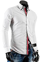 double col couleur bloquant shirt Hansun hommes