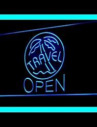 Travel Agency Palm Advertising LED Light Sign