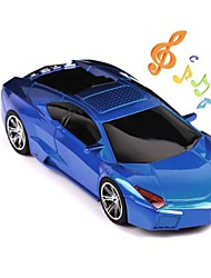 Cool Mini Racing Car Style Speaker with Rechargeable TF/USB/FM Radio(Assorted Colors)
