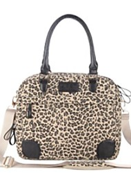 "Canvas Leopard Design 13""14""15""Laptop Case Notebook Bag Computer Messenger Bag for HP Asus Samsung"