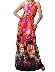 vestido maxi das mulheres
