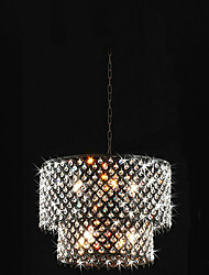 Modern 8 - Light Pendant Lights with Crystal Drops