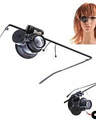 Eyewear Style Single 20X Magnifier with White LED Light (2 x CR1620)