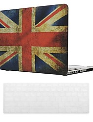 British Flag Design PC Hard Case with Keyboard Cover Skin for MacBook Retina