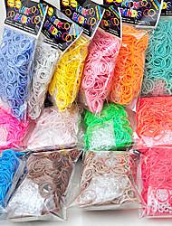 600pcs europa ocidental cor do arco-íris moda tear tear elástico (clipe 1package s, cores sortidas)