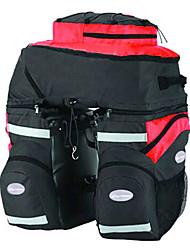 mountainpeak 3-en-1 68l sacoche 600d nylon noir et rouge pour le cyclisme