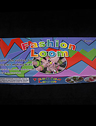baoguang®rainbow Farbe Webstuhl Webstuhl Mode eingestellt (600pcs Bands, 1 Paket Clips, 1 Webstühle, 1 Haken)