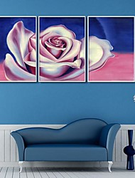 Oil Painting Effect Flower Decoration Art  Framed Canvas Print Set of 3