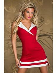 y&sans manches col V sexy moulante robe de femmes d