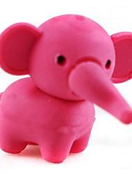 довольно съемный слон форме ластик (случайный цвет х 2 шт)