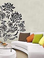 Vintage Black Floral Vine Nursery Chambre Wall Sticker Stickers muraux Createforlife ® Kids Art