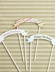 Happy Birthday Card Birthday Cake Topper (More Colors)(Small size 13 cm wide)(Large size 15 cm wide)