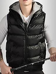 Men's Parka Coat , Polyester Pure Sleeveless