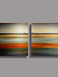 Handgemalte Ölgemälde Modern Abstract mit gestreckten Rahmen 2-er Set