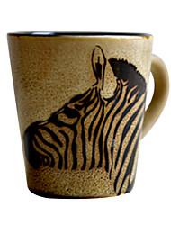 "Cerâmica 250ml inovador padrão Mini Zebra Cup, 3.3 ""X2.2"" x2.6 """