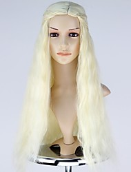 New Movie Game of Thrones Daenerys Targaryen Long Wavy Cosplay Wig with Braid