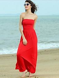 bandeau das mulheres recolher cintura vestido sem mangas