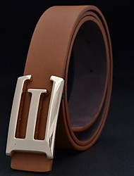 Men's Fashion Big Letter G Smooth Buckle Waist Belt