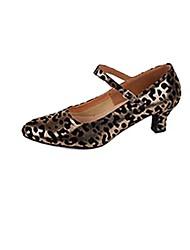 Zapatos de baile (Leopardo) - Moderno Tacón grueso