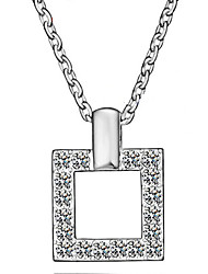 Taomeng Diamonade Square Necklace N0002