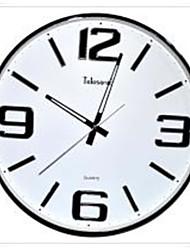 """Telesonic ™ 14 """"H Brève style métal de schéma roulage Horloge murale Muet"""