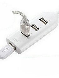4 Port Mini USB 2.0 Hub For Laptop PC High Speed 480Mbps White