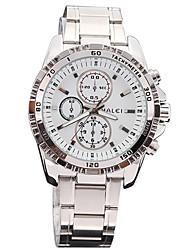 banda de acero de línea analógica impermeable reloj de moda del reloj del cuarzo de los hombres de plata haleiweide