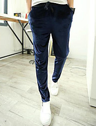 Men's Velvet Casual Harem Pants Sport Pants