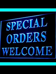 Special Orders Welcome Advertising LED Light Sign