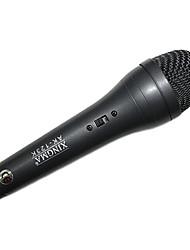 ak-123k karaoké filaire avec microphone spécial pour la maison utilisée gris