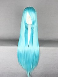 Blue Long Straight Anime Cosplay Wig