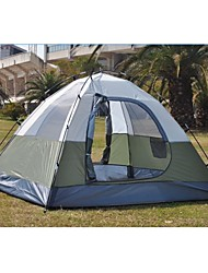 Huacai ™ antipioggia multiplayer Two-Door Blue-green Duplex tenda da campeggio (3-4 persone)