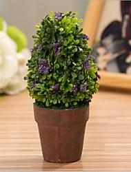 mini-plastique pot de fleurs artificielles pour le bureau