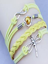 Unisex's Occident  Dragonfly Heart  HandWoven Bracelet